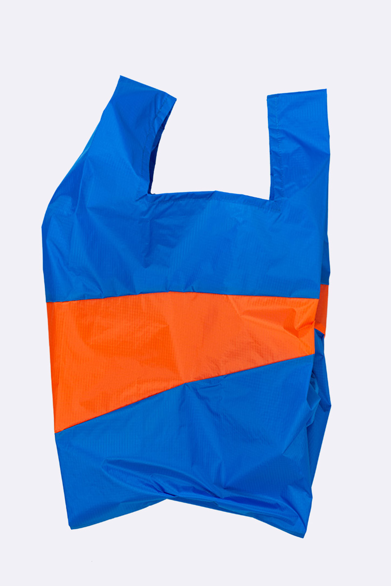 Shoppingbag blue & oranda L
