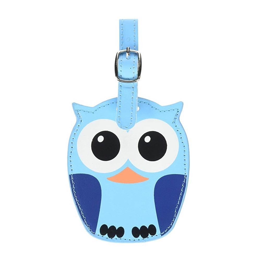 Luggage tag owl blue