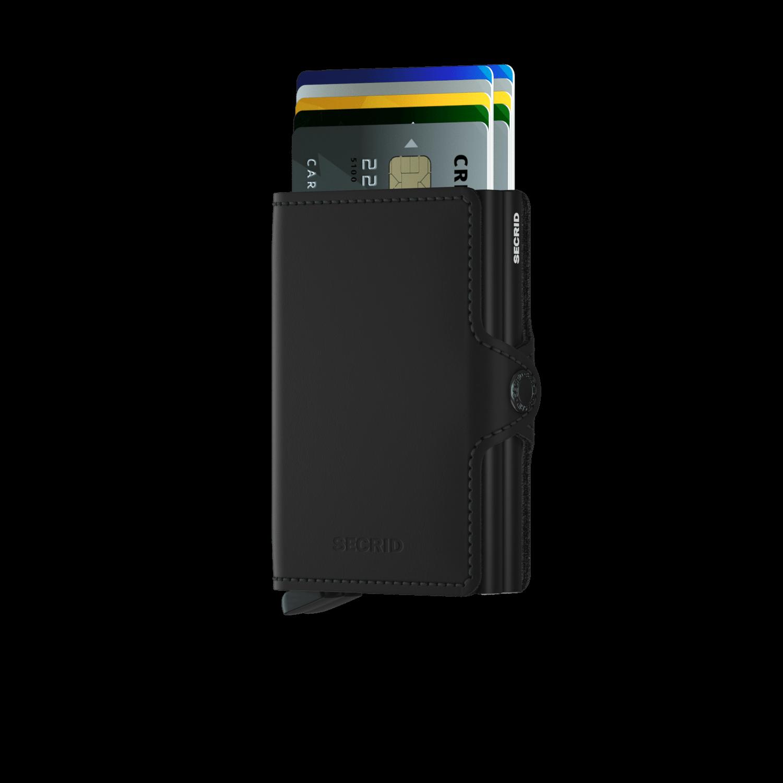 Twin wallet matte black