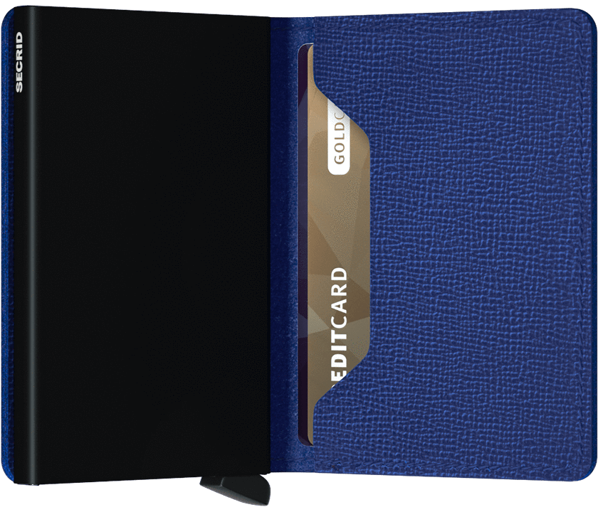 Slim wallet crisple blue