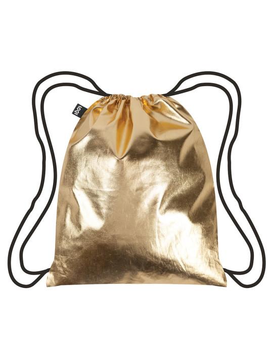 Backpack metallic gold