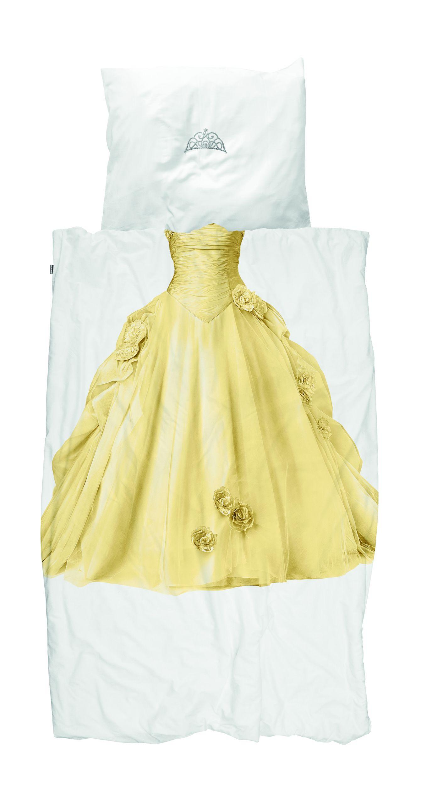 Princess yellow dekbedovertrek 140x200/220