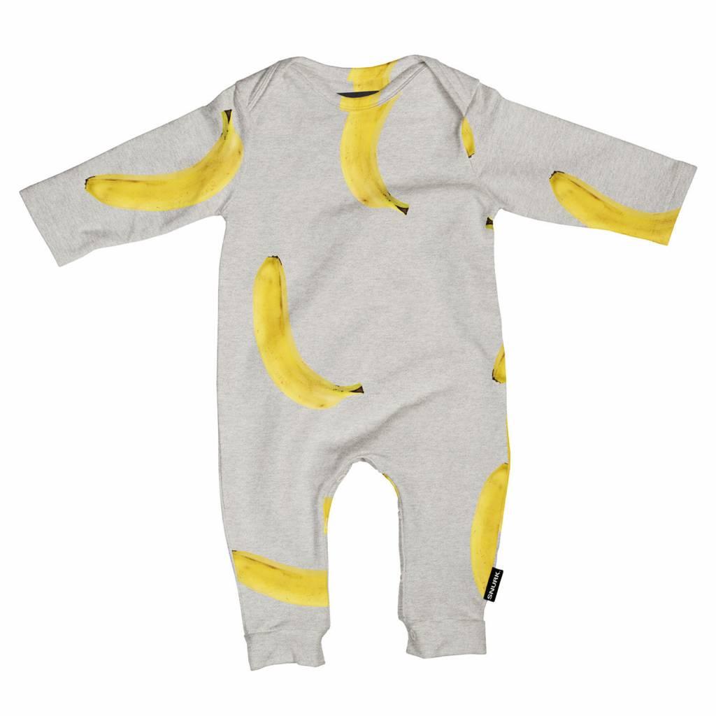 Jumpsuit banana grey maat 62