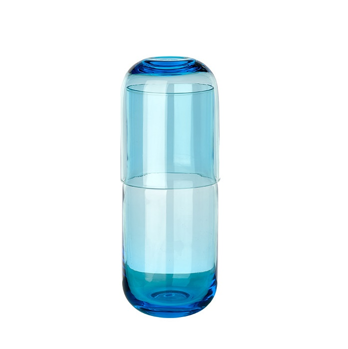 Jug and glass blue