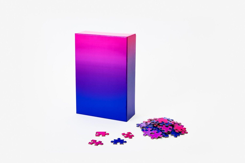 Puzzle gradient blue/pink