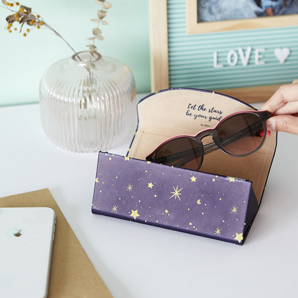 Foldable glasses case starry navy