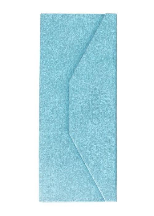 QP foldable glasses case c-blue