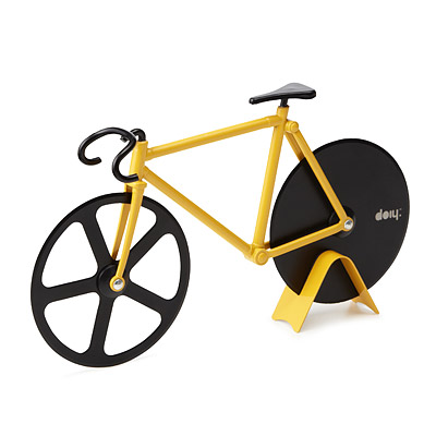 Fixie pizzasnijder fiets bumblebee