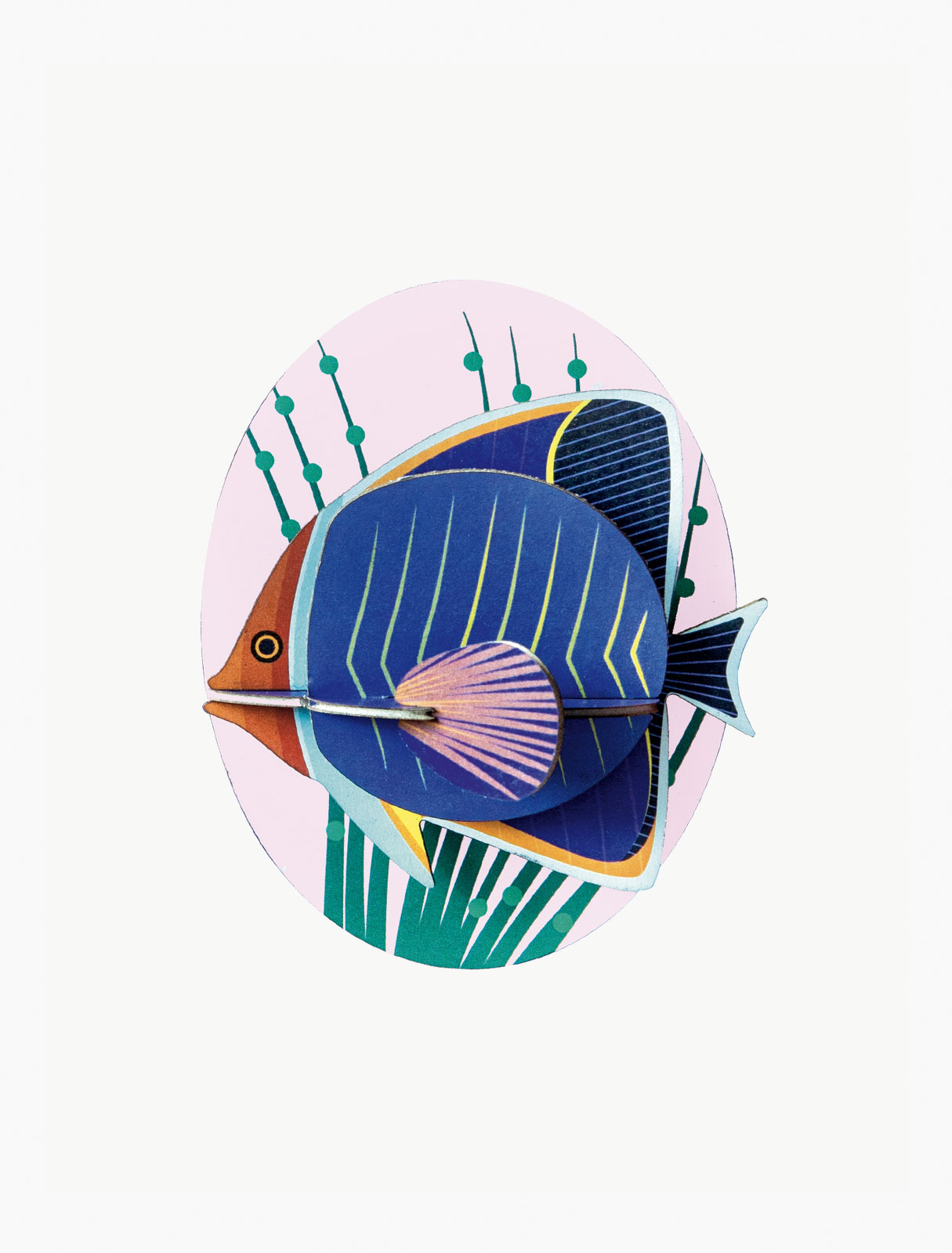 Wall decor butterfly fish