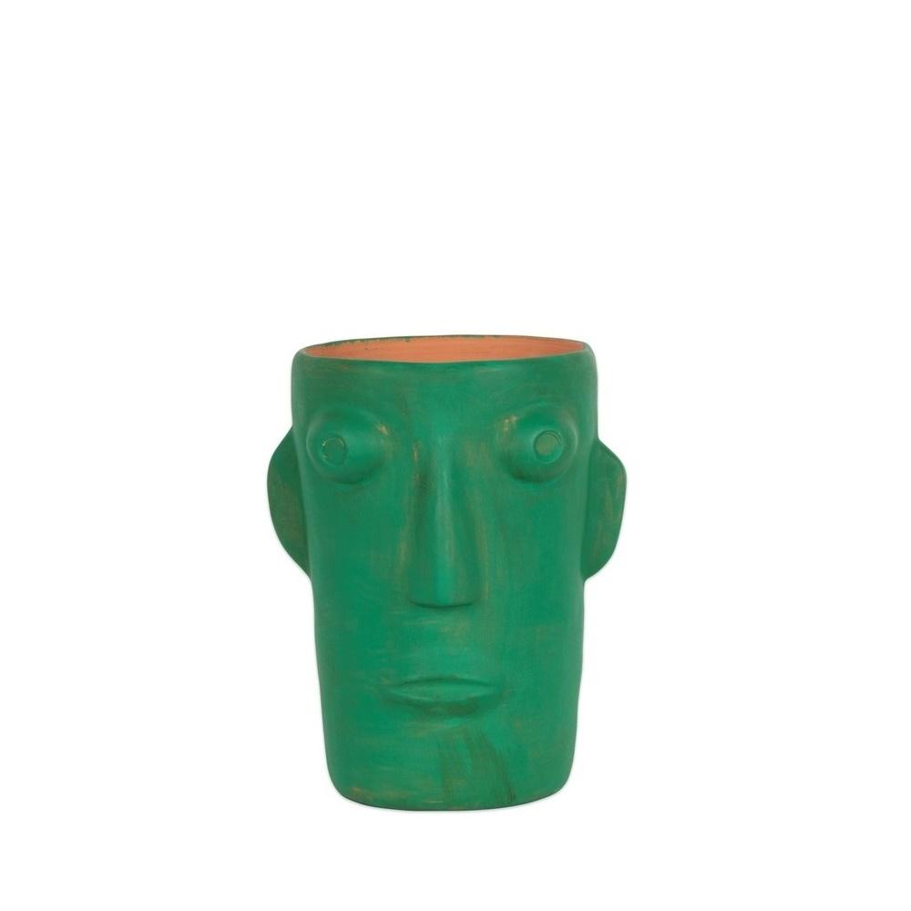 Vase cabeza small green