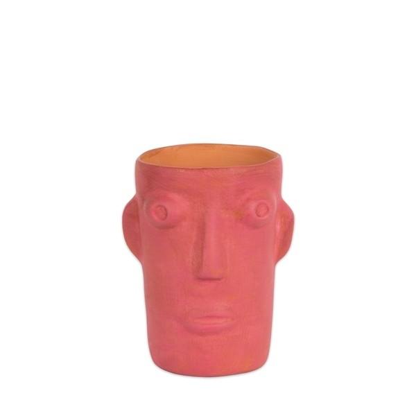 Vase cabeza small pink