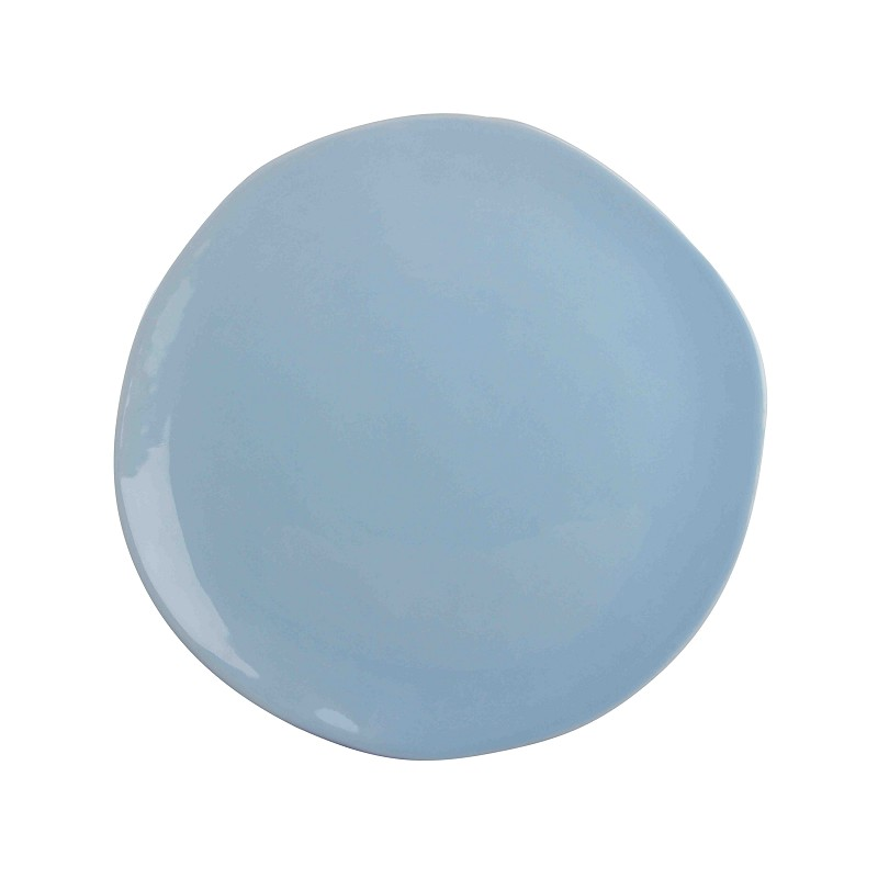 Colour plate irregular blue
