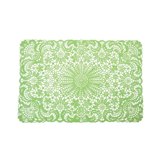 Placemat crochet green set of 6