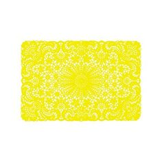 Placemat crochet yellow set of 6