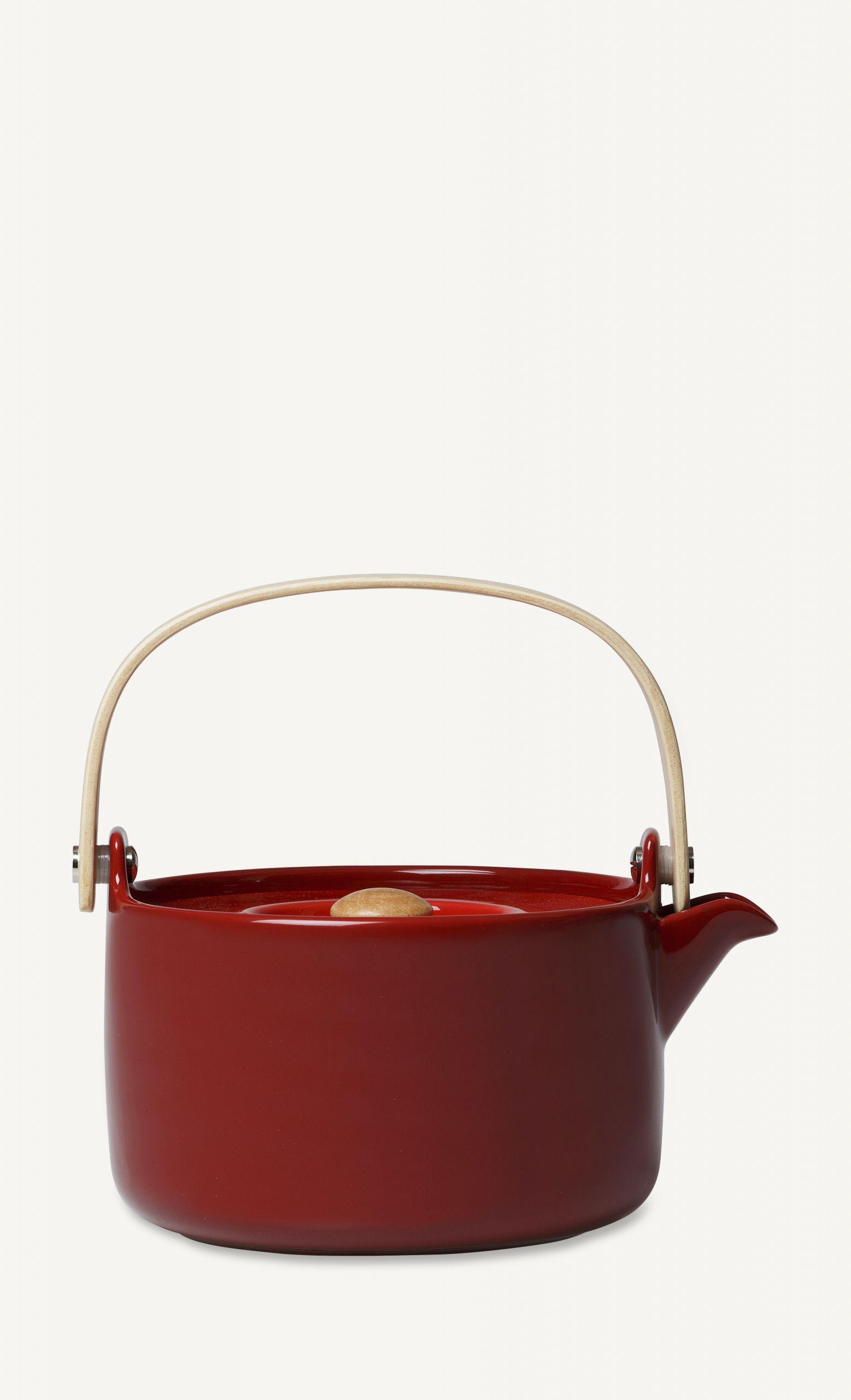 Marimekko Oiva teapot red