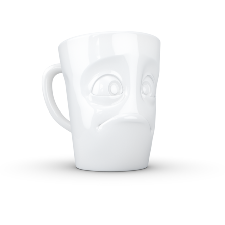 Mug with handle baffled