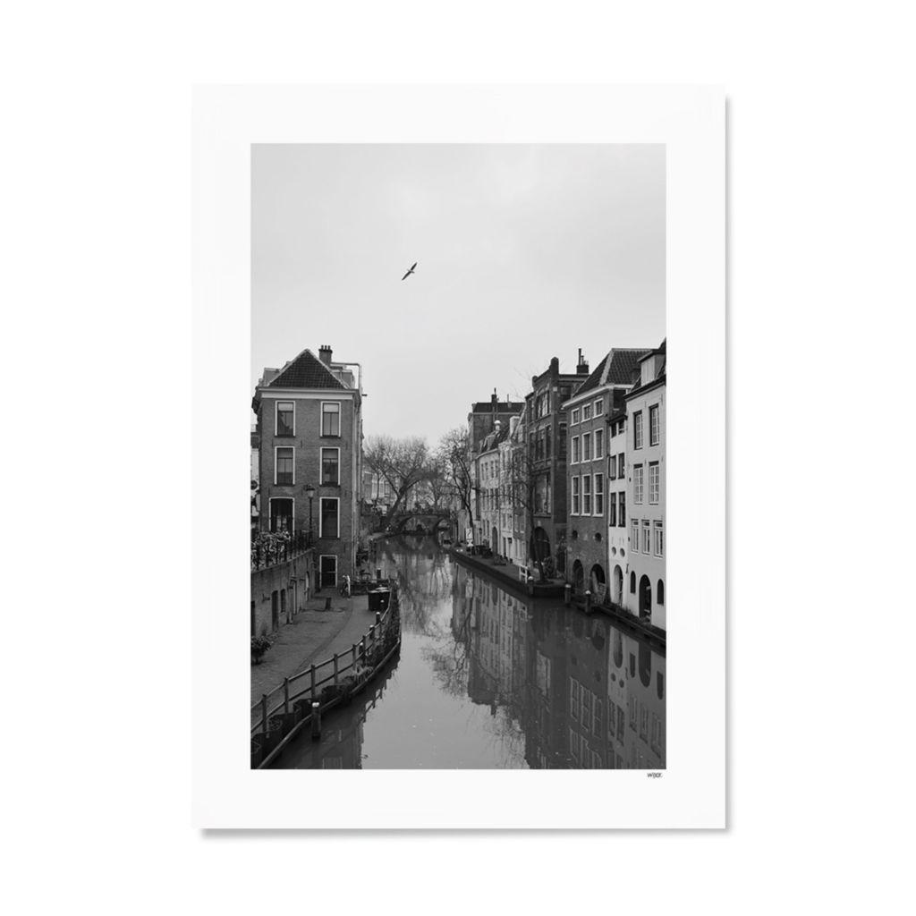 Utrecht ansichtkaart Oudegracht foto
