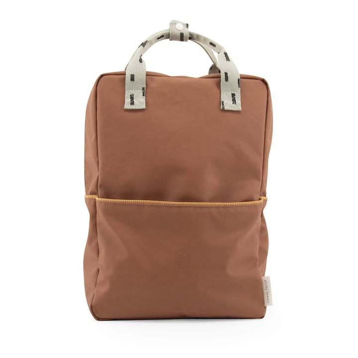 Backpack large sprinkles - cinnamon brown + sage green + cantaloupe