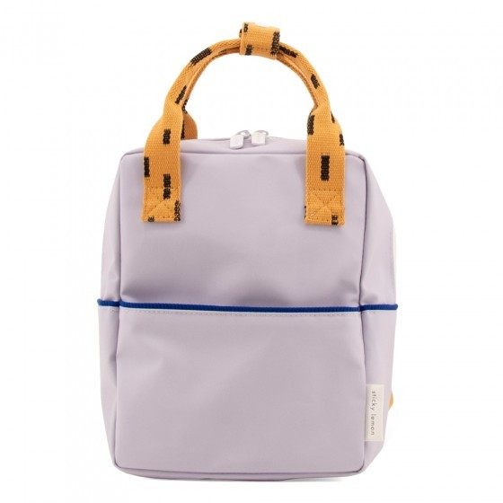 Backpack small sprinkles - lavender + apricot orange + indigo blue