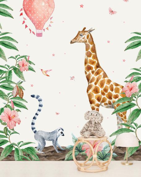 Behang Giraf 2 X 2,8 meter