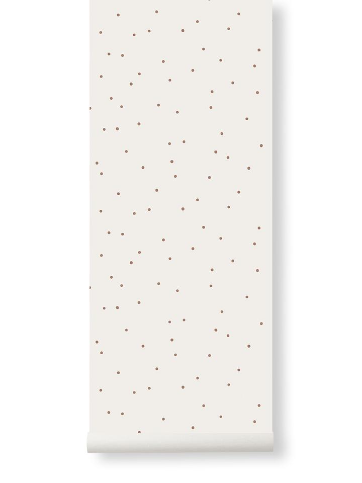 Ferm Living Behang Dot Off-white