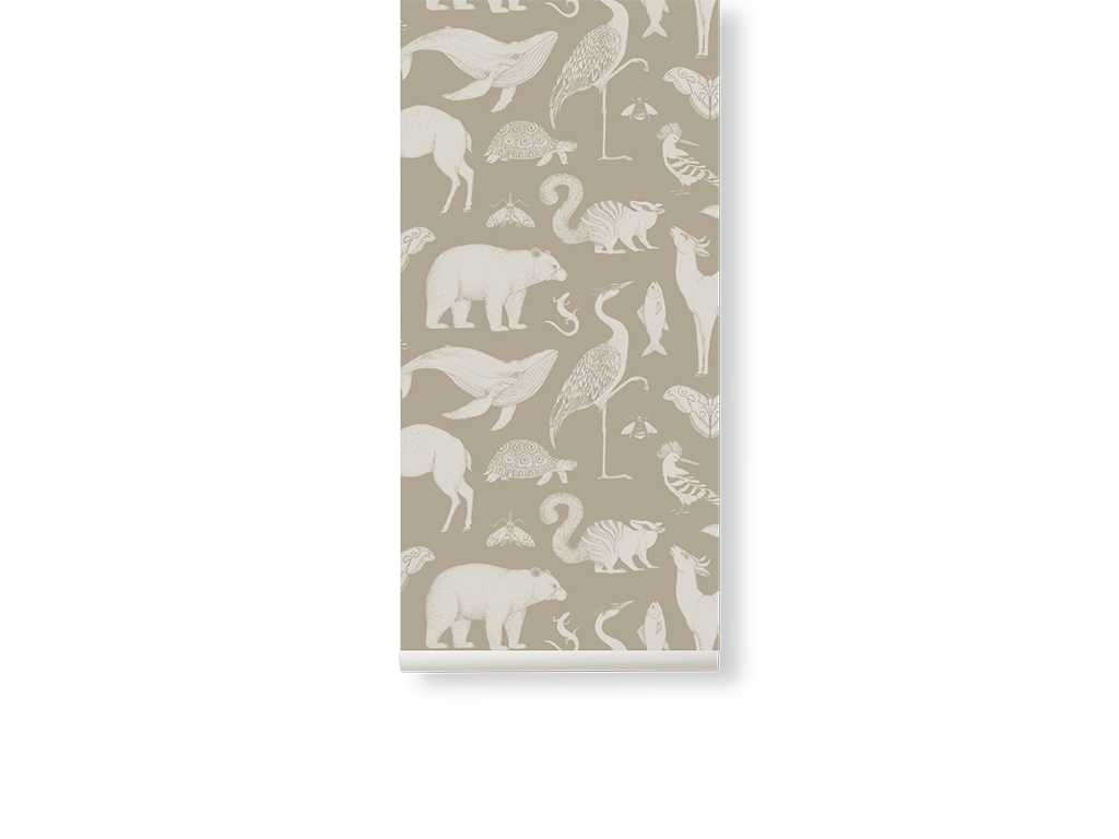Ferm Living behang Katie Scott Animals Sand