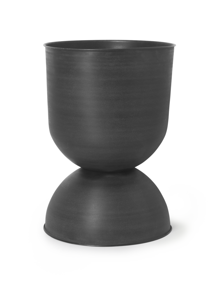 Hourglass pot large black