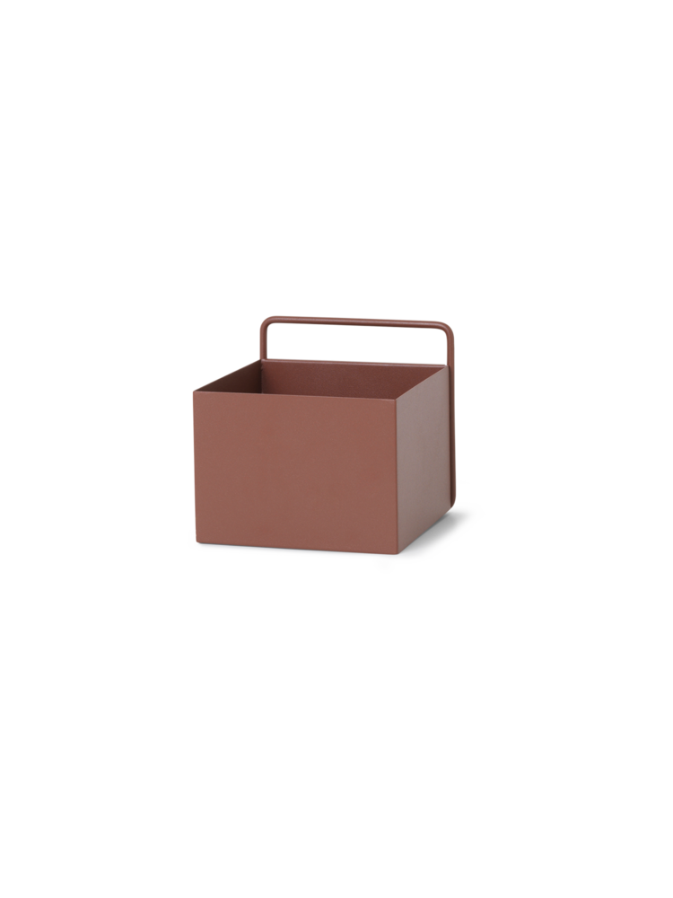 Wall box square red brown