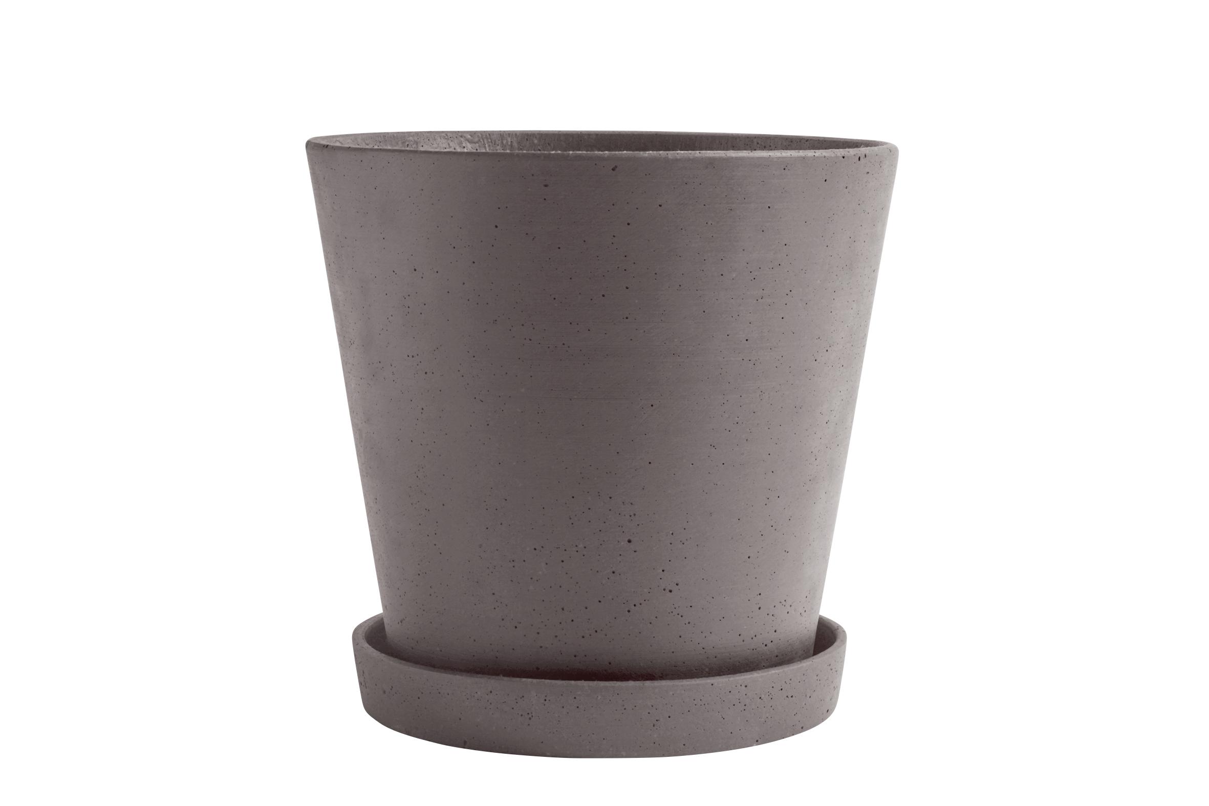 Flowerpot with saucer XXL plum