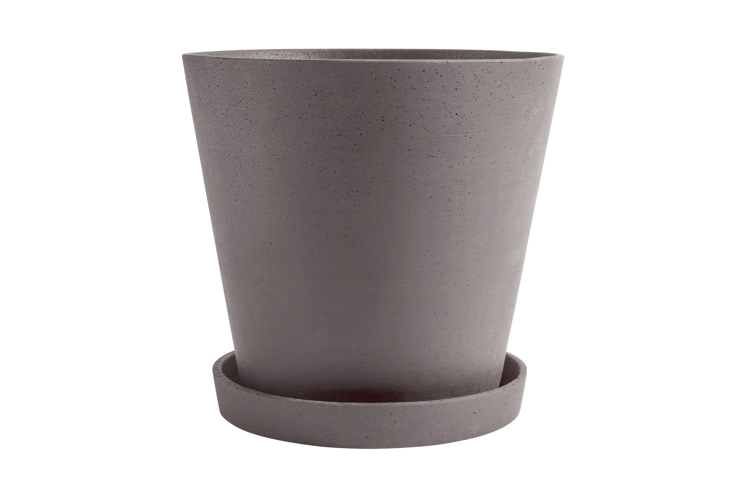 Flowerpot with saucer XXXL plum