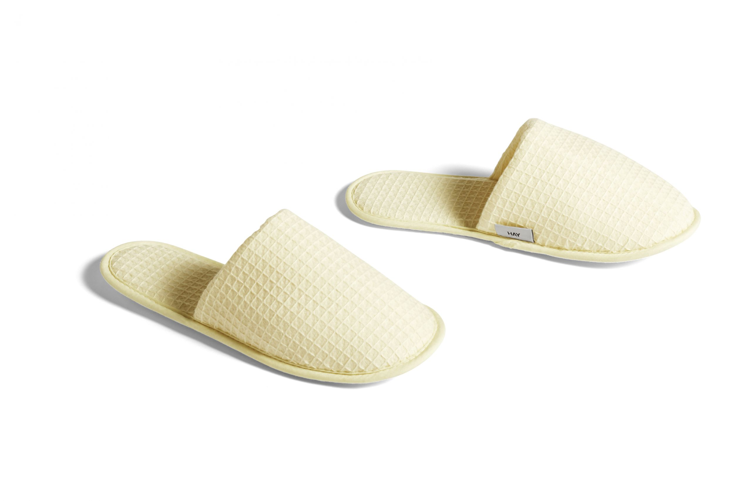 Hay Waffle Slippers One Size Soft Yellow