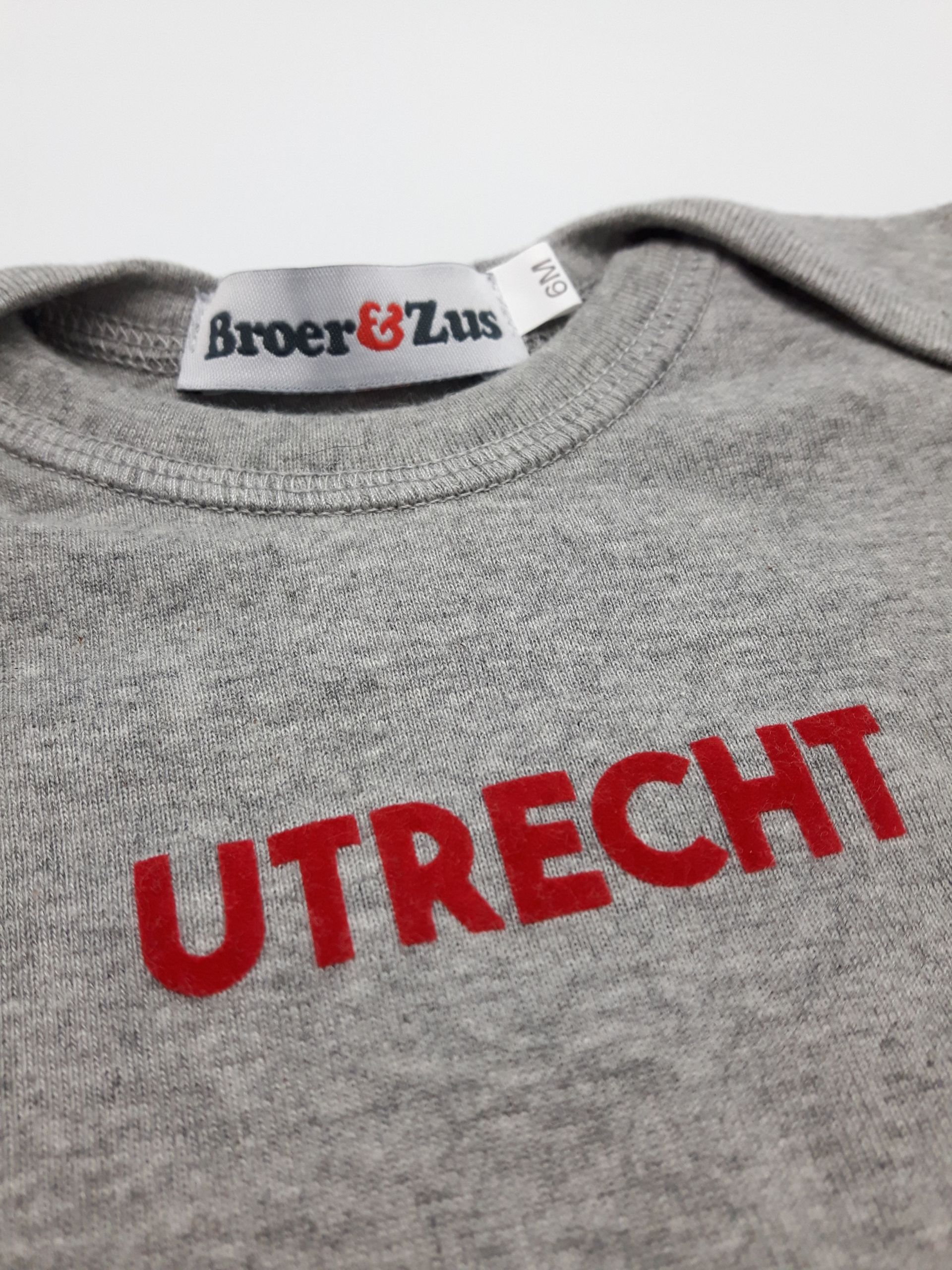 Baby romper Utrecht grey melange red flock 6 maanden