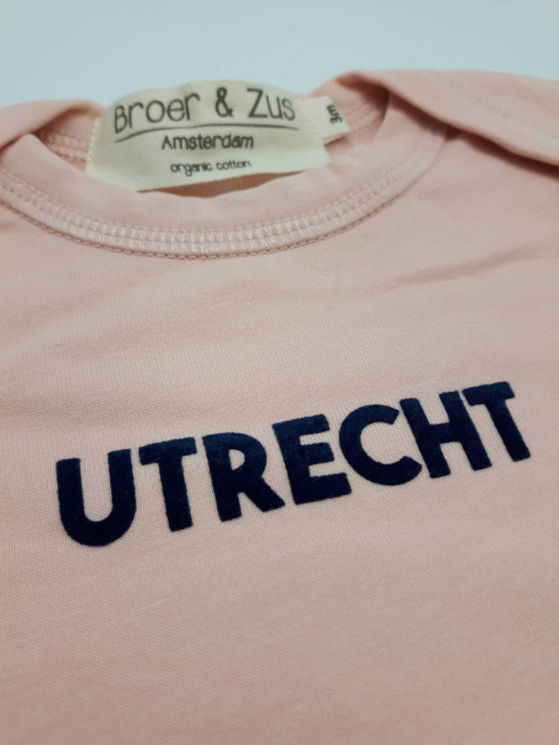 Baby romper Utrecht nude navy flock 3 maanden