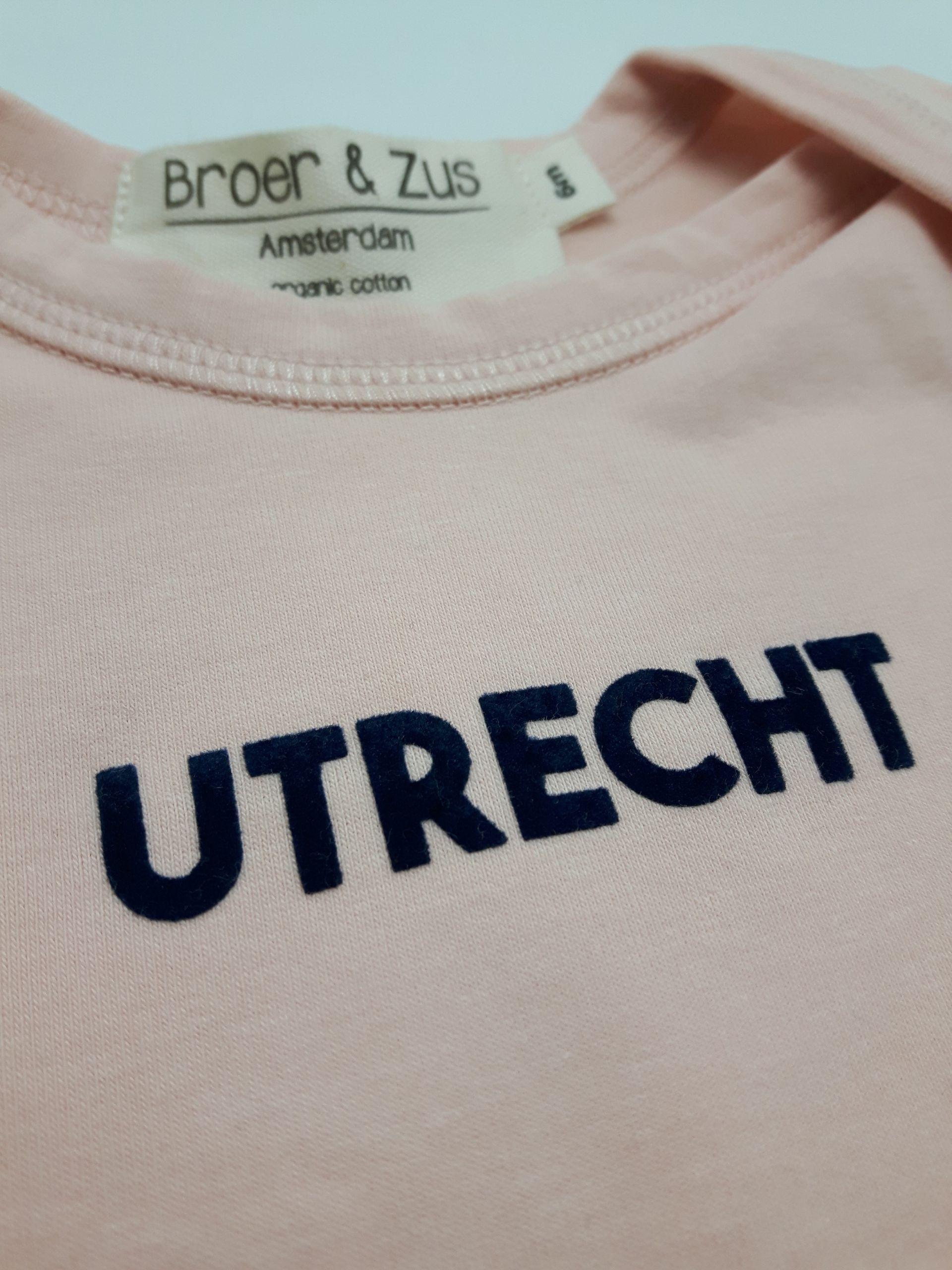 Baby romper Utrecht nude navy flock 6 maanden