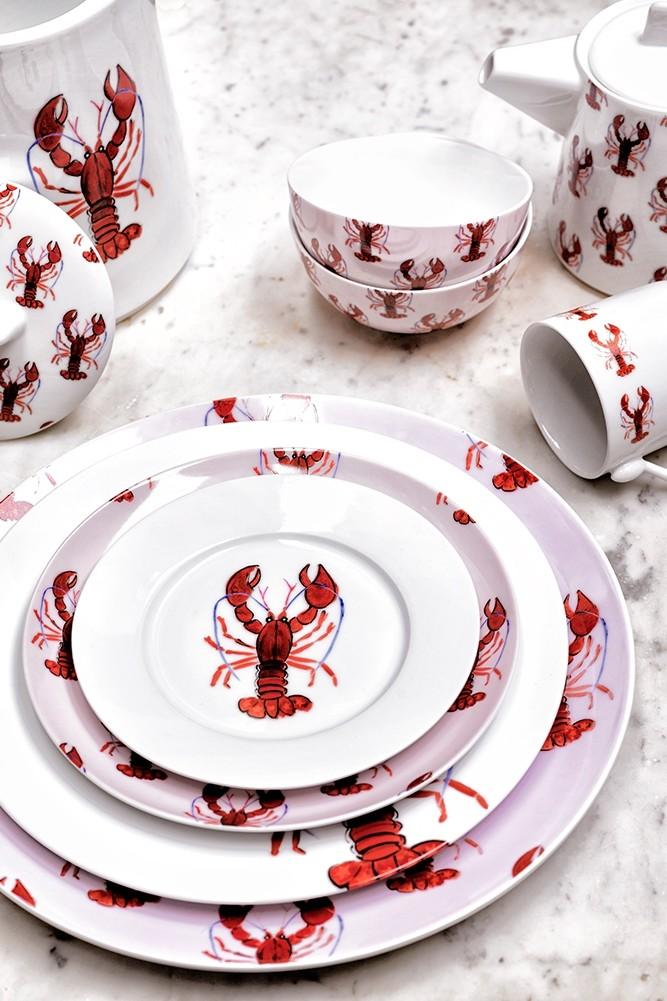 Cake plate lobster 17cm
