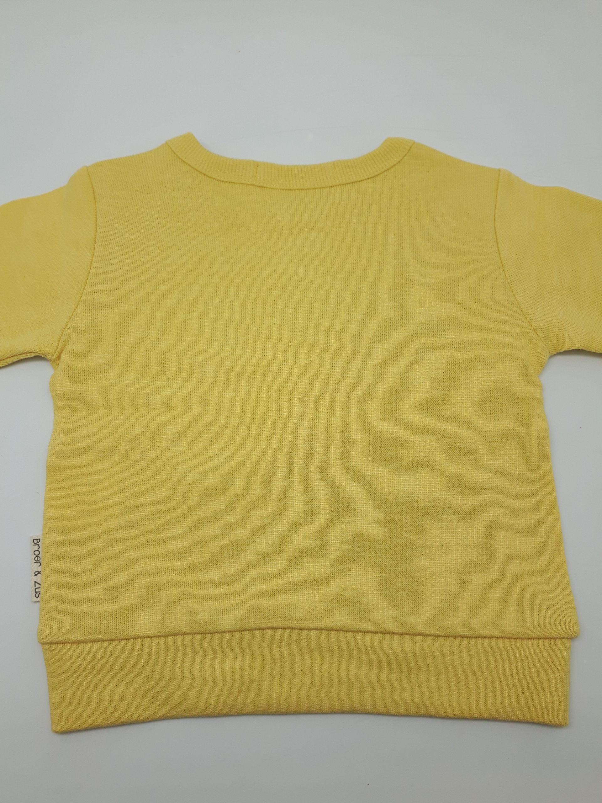 Sweater Utrecht Banana/Navy 6 maanden