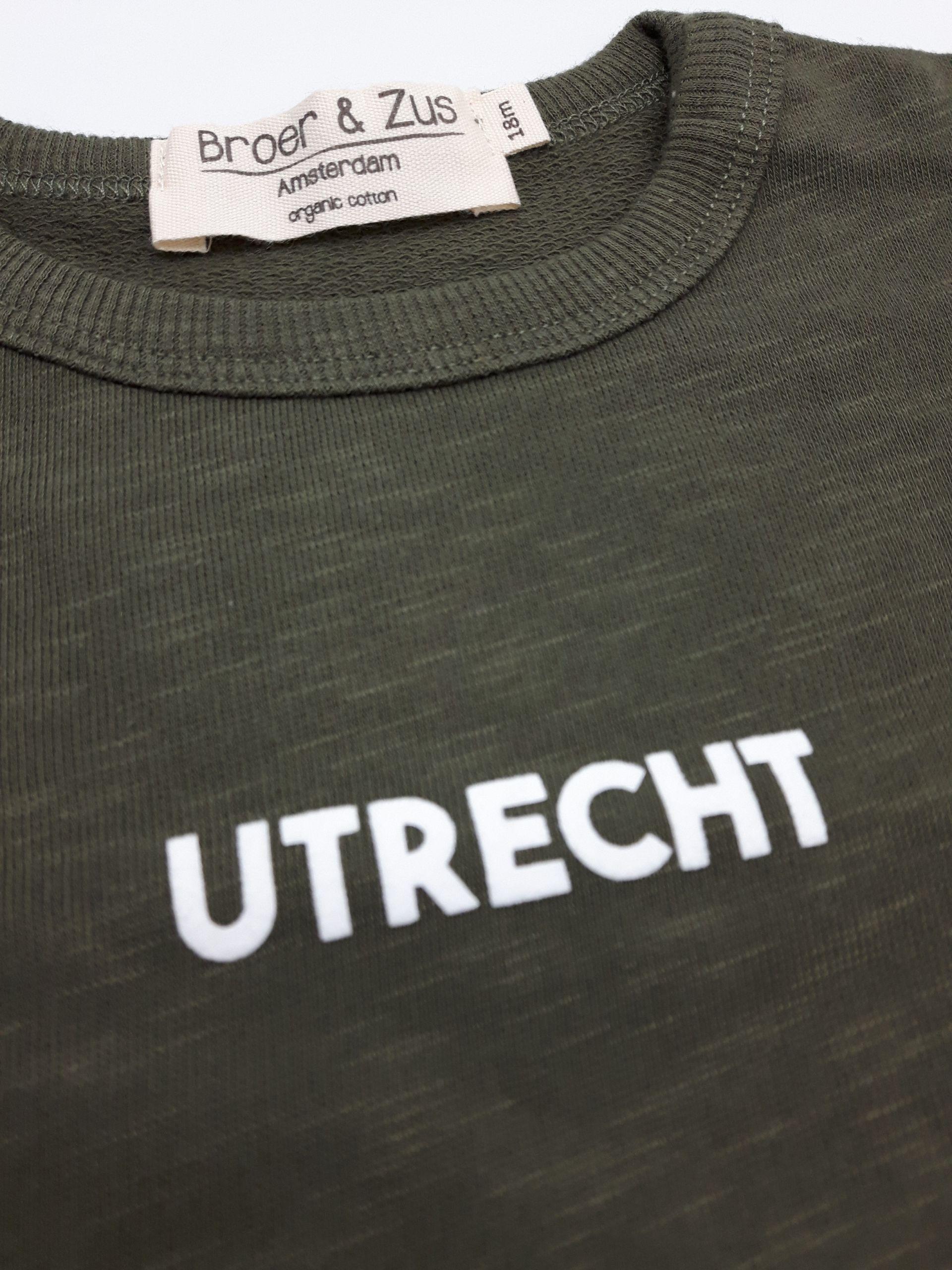 Sweater Utrecht kaki white 18 maanden
