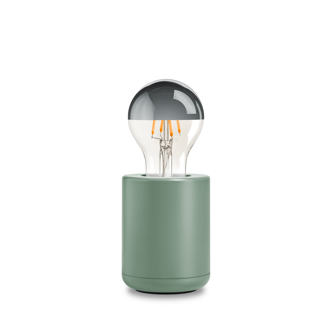 Base lamp cement green