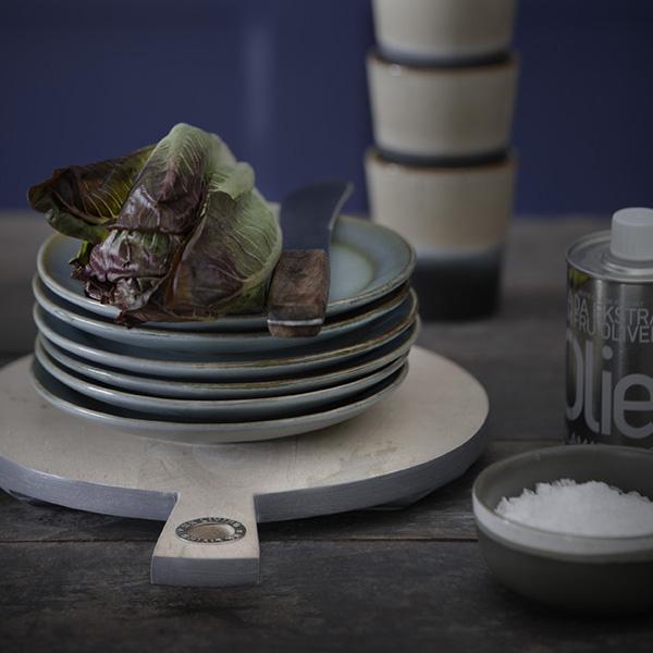 Ceramic 70's dinner plate green