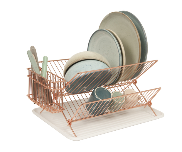 Dish rack copper