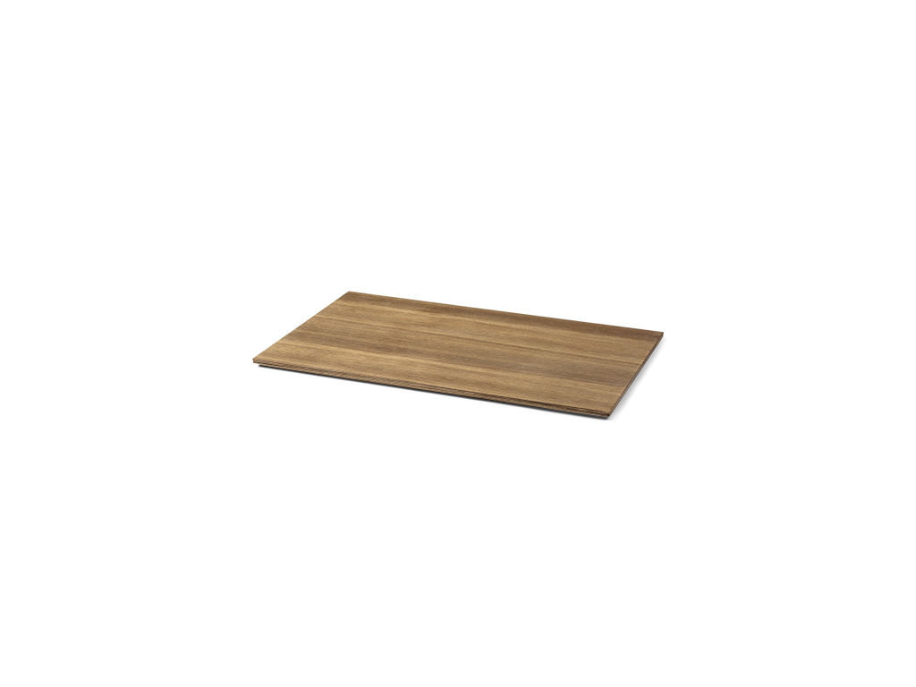 Tray for plant box large smoked oak