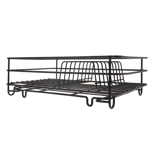 Metal wire disk rack matt black