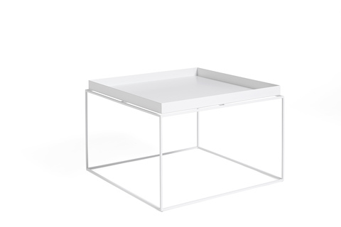 Hay Tray Table Side Table White
