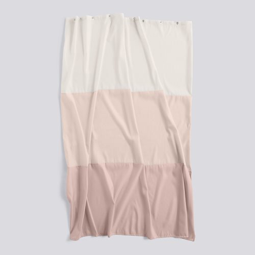 Shower curtain aquarelle rose horizontal