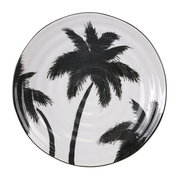 Jungle serving plate palms
