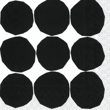 Kivet black/white lunch napkin