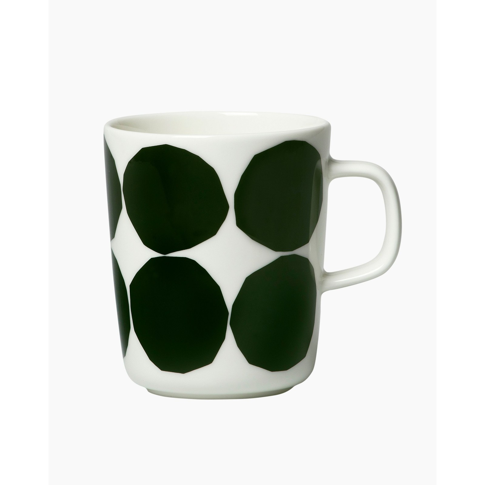 Kivet mug 2,5dl white/dark green