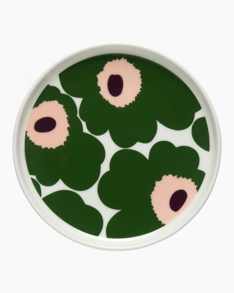 Marimekko Pieni Unikko Plate 13,5cm beige/green/peach