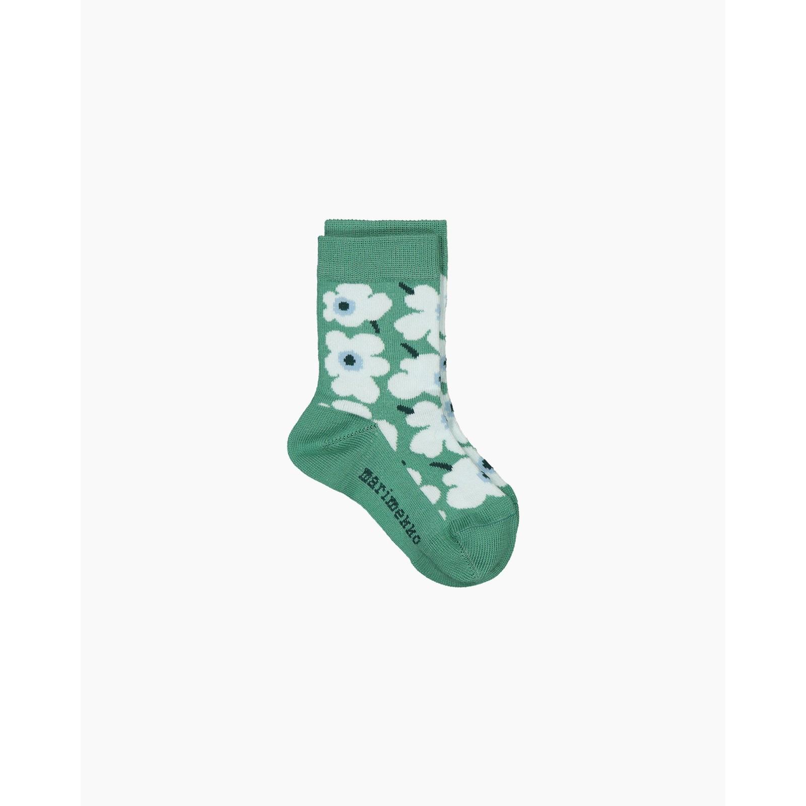 Marimekko Umika Socks Unikko Green 19-21