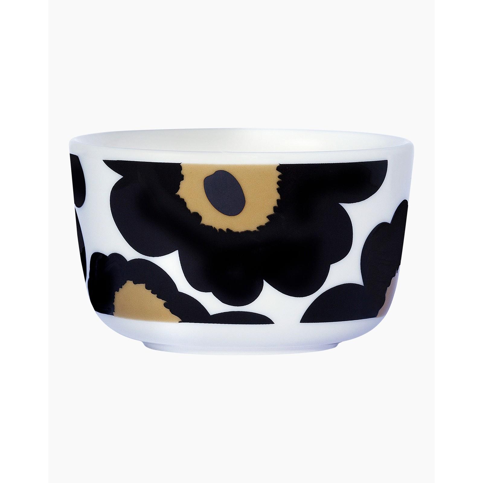Marimekko Unikko Black Bowl 2,5dl